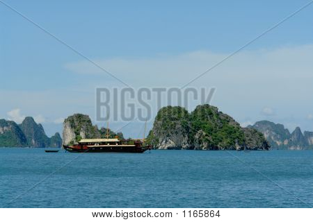 Tourist Boat In Ha Long Bay