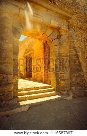 Old Agios Nikolaos Gate In Fortress Spinalonga