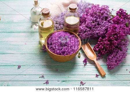 Organic Aroma Oils, Sea Salt,  Lilac Flowers