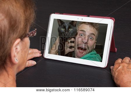 Senior Woman With Tablet