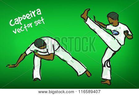 Vector Capoeira Set