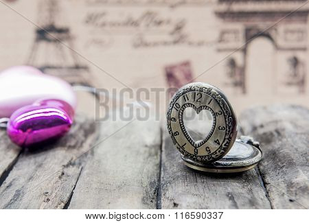 Valentine And Sweetest Decoration With Wintage Background