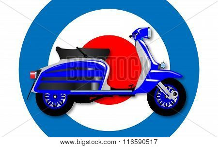 60S Scooter And Uk Symbol