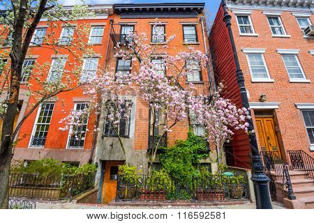 Chelsea neighborhood of New York City in the Spring.