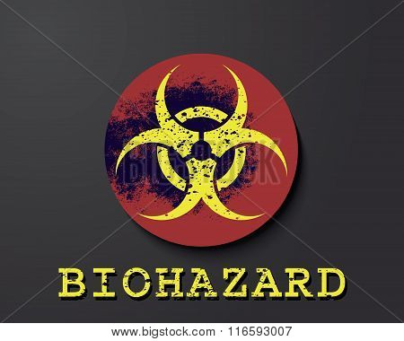 Biohazard  Warning Symbol. Vector Illustration.