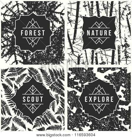 Label Design With Seamless Patterns