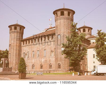 Retro Looking Palazzo Madama In Turin