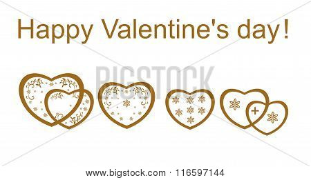 Hearts with Valentine's day vector illustration