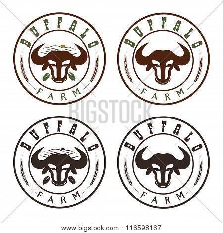 Buffalo Farm Vintage Labels Set