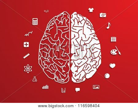 vector illustration of Creative brain Idea