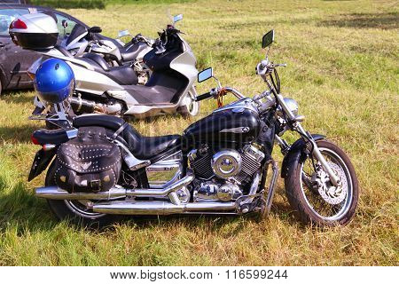 Perm, Russia - Jun 27, 2015: Drag Star Bike. Star Motorcycles - Division Of Yamaha Motor Company, Wh