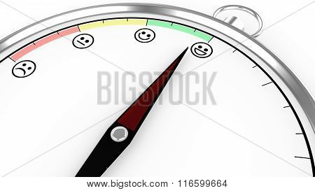 Compass Illustration With Satisfaction Meter