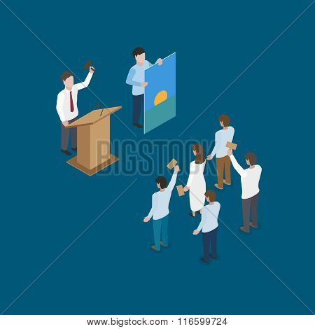 auction scene vector