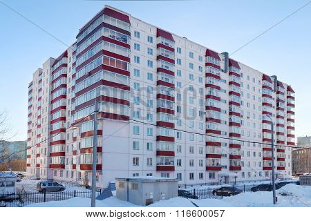 Perm, Russia - Feb 17, 2015: Residential Building