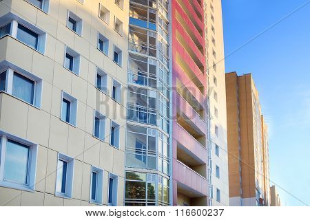 Perm, Russia - Feb 17, 2015: Part Of High Residential Buildings. In 2014 Residential Buildings Were