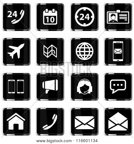 Contacts simply icons