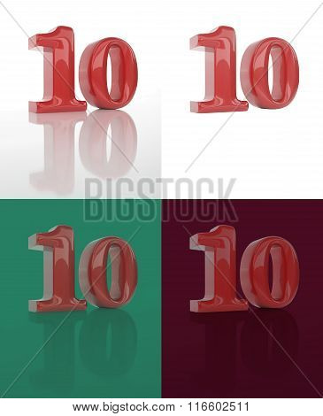 The Three-dimensional Image Of Numerals 10