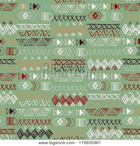 Native American Seamless Pattern