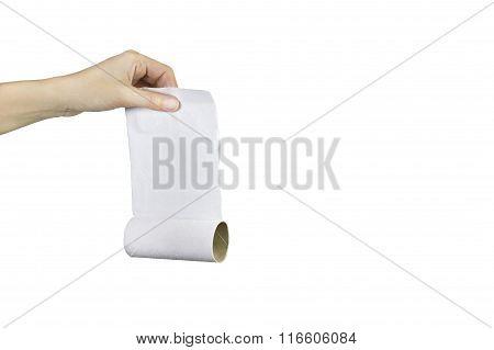 No toilet paper left