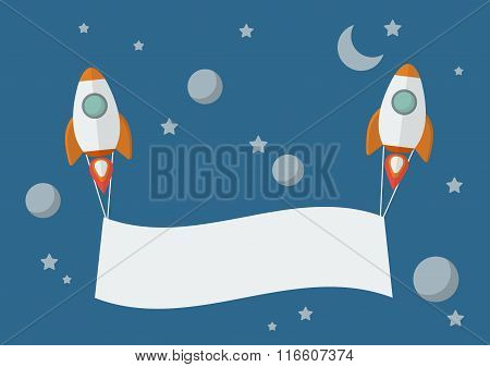 Rockets With Banner