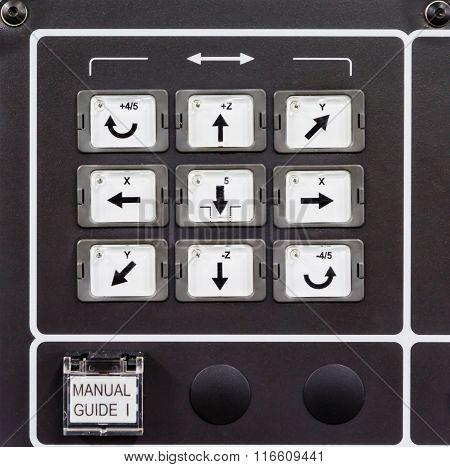 Photo of a CNC machine control panel