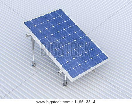 Solar Panel Conceptual Illustration