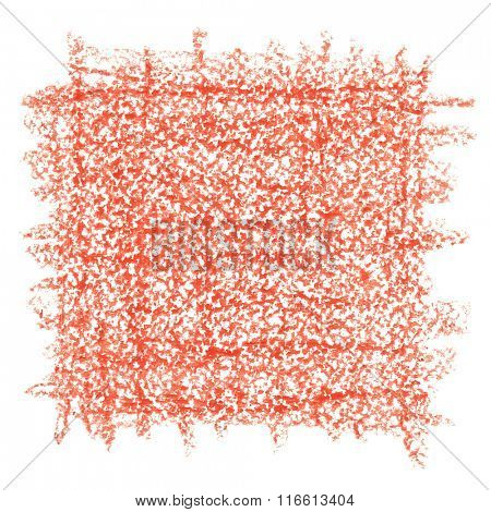 Red crayon drawing texture - abstract background