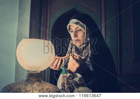 Beautiful Muslim young woman