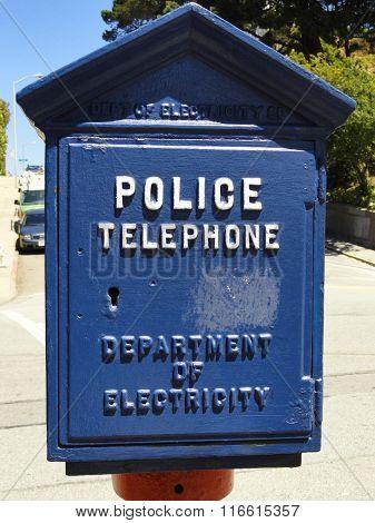 Blue Police Phone Box