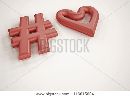 Dimensional Inscription Of Tag And Heart