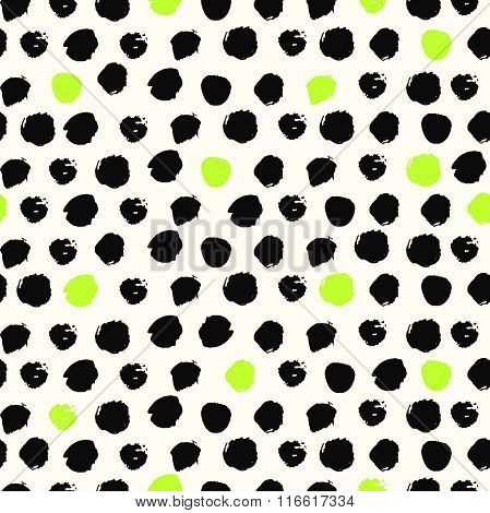 Seamless pattern with dot.