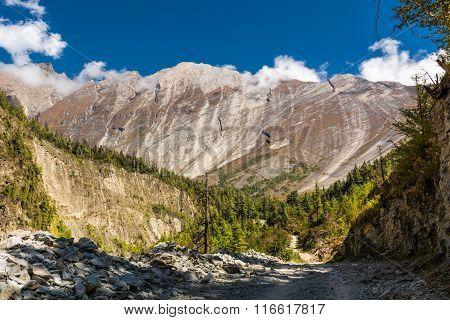Huge mountain massif