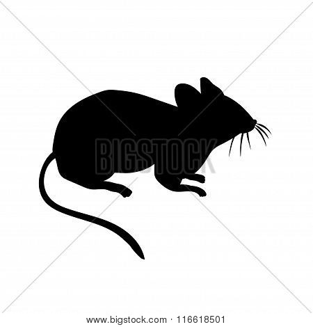 Vector Silhouette Of The Mouse