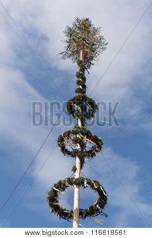 Festively Decorated Maypole