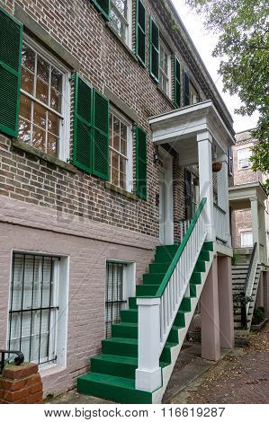 Green Steps And Shutters