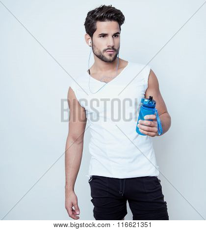 handsome young and fit man