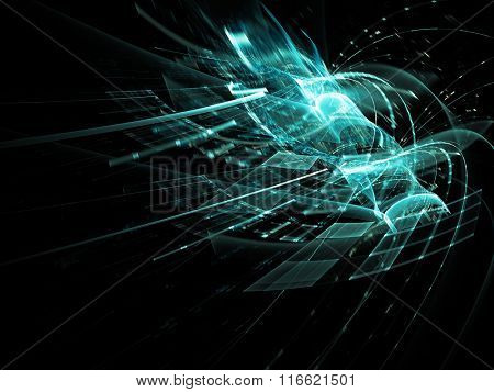 Digital art abstract background. Advanced technology or data processing concept