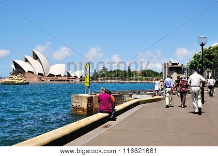 Tourists at The Iconic Sydney Opera
