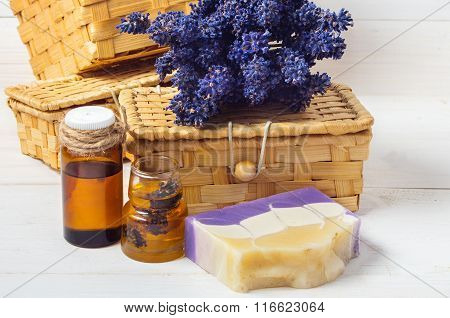 Lavender Handmade Soap And Accessories For Body Care (lavender, Soap,  Oil )