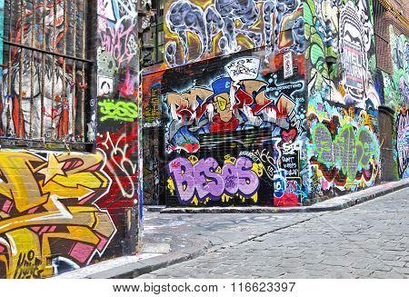 Hosier lane street arts