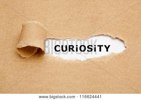 Curiosity Torn Paper Concept