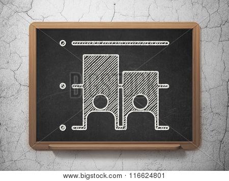 Political concept: Election on chalkboard background