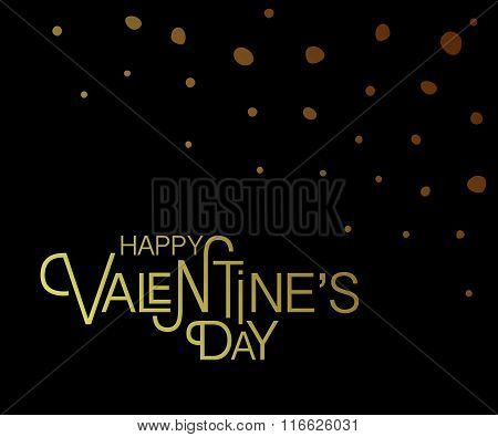 Hand Sketched Happy Valentine's Day Text As Valentine's Day Logotype, Badge And Icon