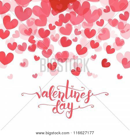 Hand Sketched Valentine's Day Text As Valentine's Day Logotype, Badge And Icon
