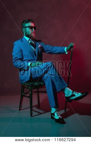 Handsome Trendy Old-fashioned Dandy