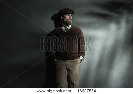 Stylish Confident Man In Cap