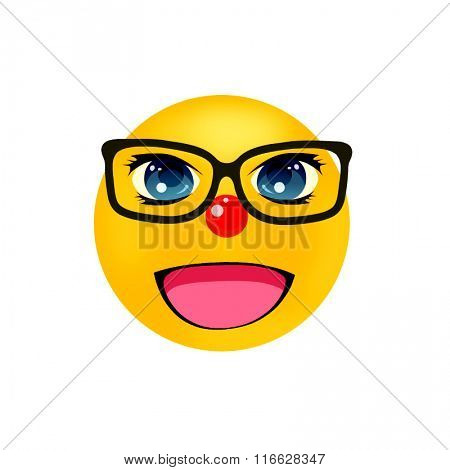 smiley with glasses