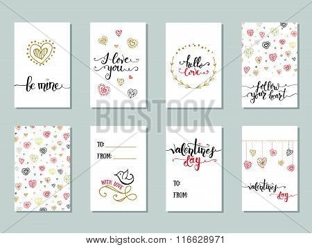 Collection Of Valentine's Day Cute Ready-to-use Gift Cards