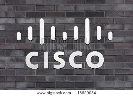 Sign On The Wall Of The Cisco Systems Gmbh Office Building