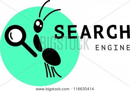 Vector flat bug logo sample.